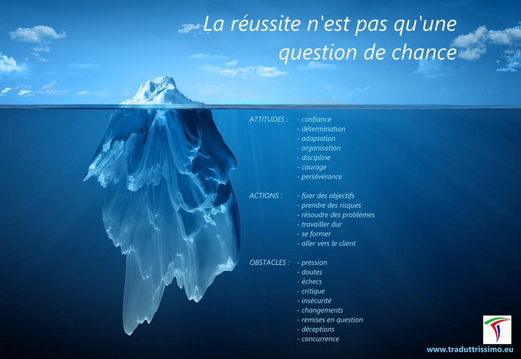 La réussite est comme un iceberg.